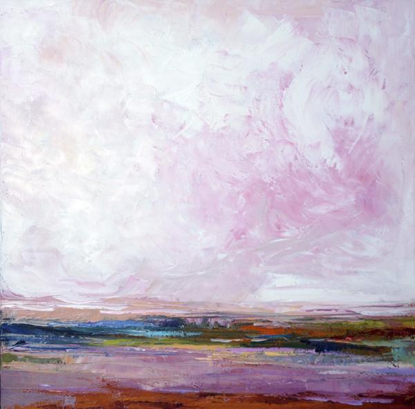 Purple Sage, 30x30, Oil on Canvas