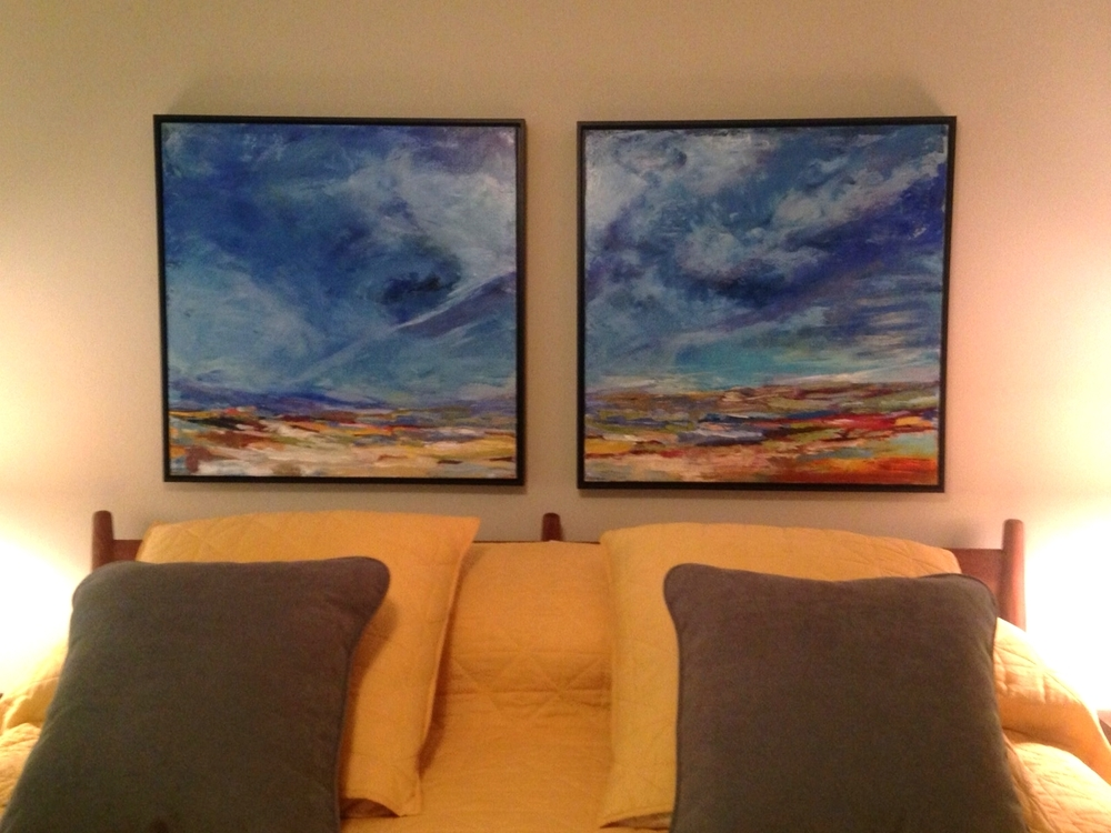 30x30 Diptych Commission