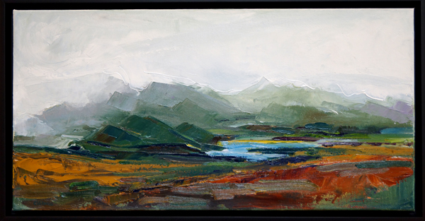 47th Landscape, 12x24, Oil on Canvas