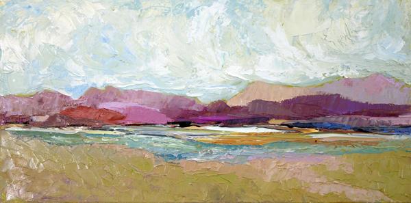Simon Skies, 10x20, Oil on Canvas