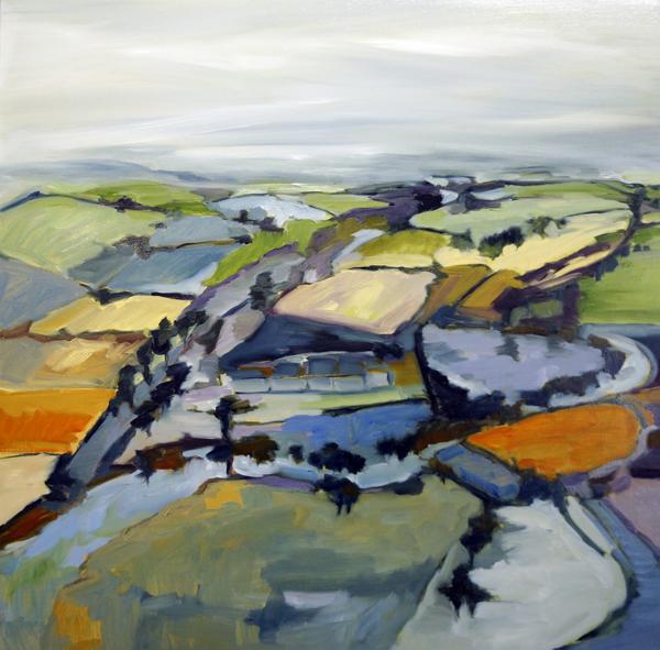 Landscape Love Song, 36x36, Oil on Linen