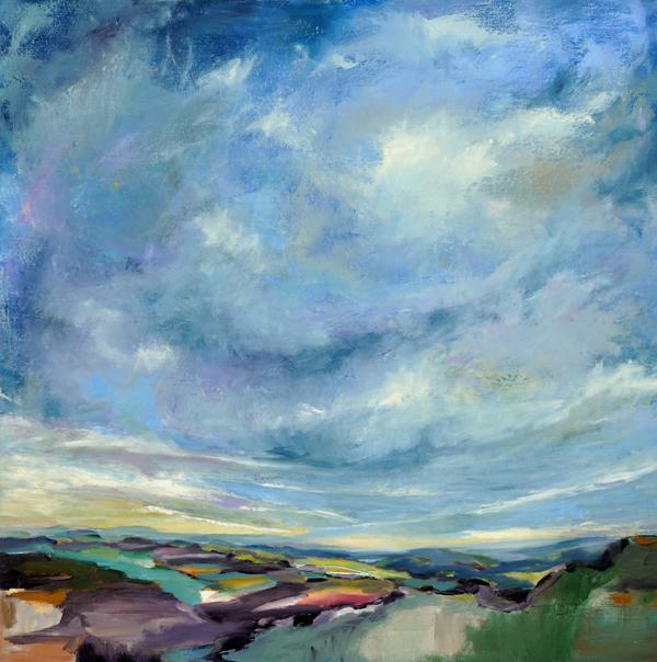 Magic Miles II, Oil on Canvas, 30x30