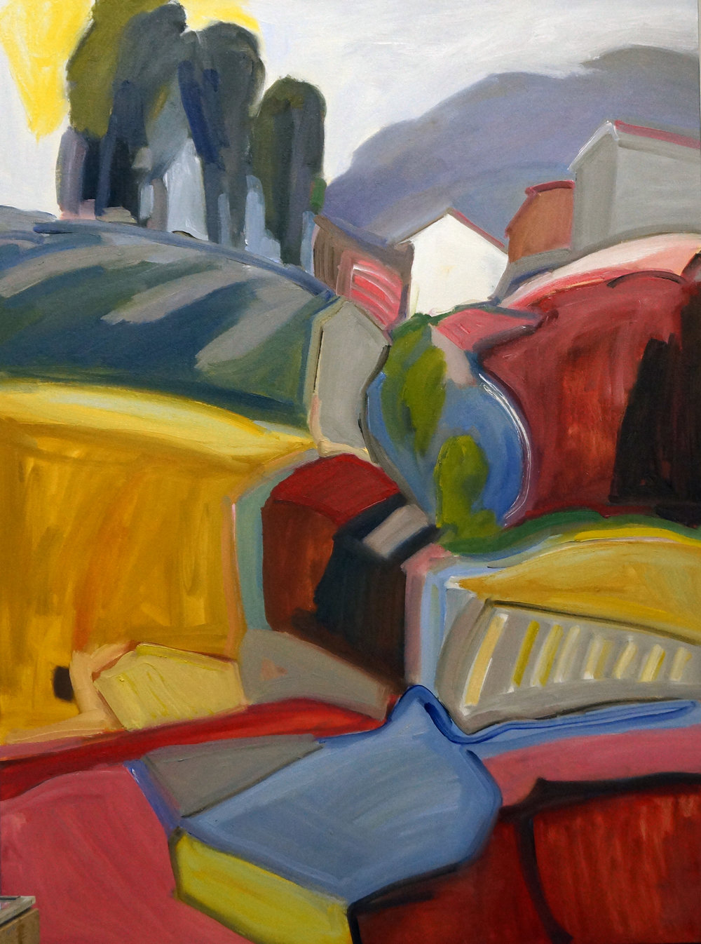 House on the Hill, 36x48, Oil on Canvas