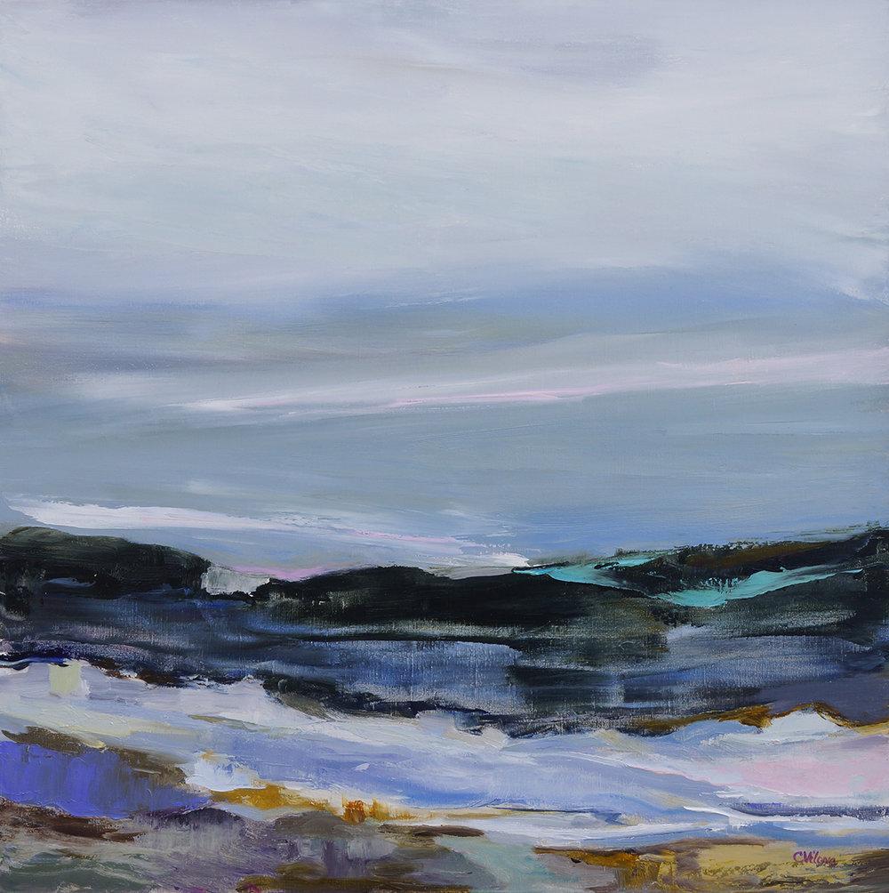 Hudson Evening, 30x30, Oil on Linen