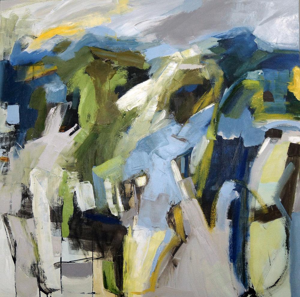 Hillside Green, 36x36, Oil on Canvas
