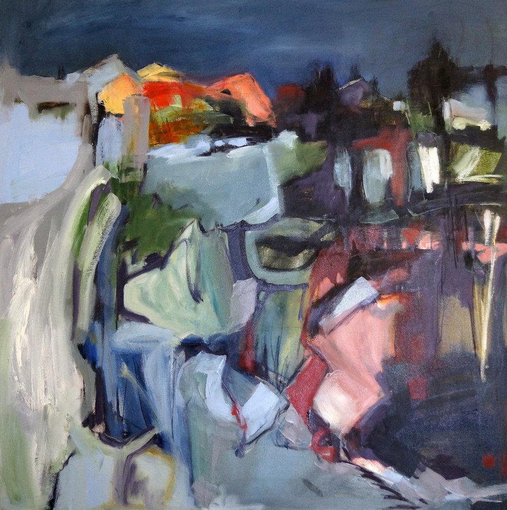 Shavers Farm III, 40x40, Oil on Canvas