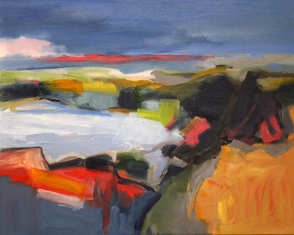 Hudson Valley Fourteen, 24x30, Oil on Canvas