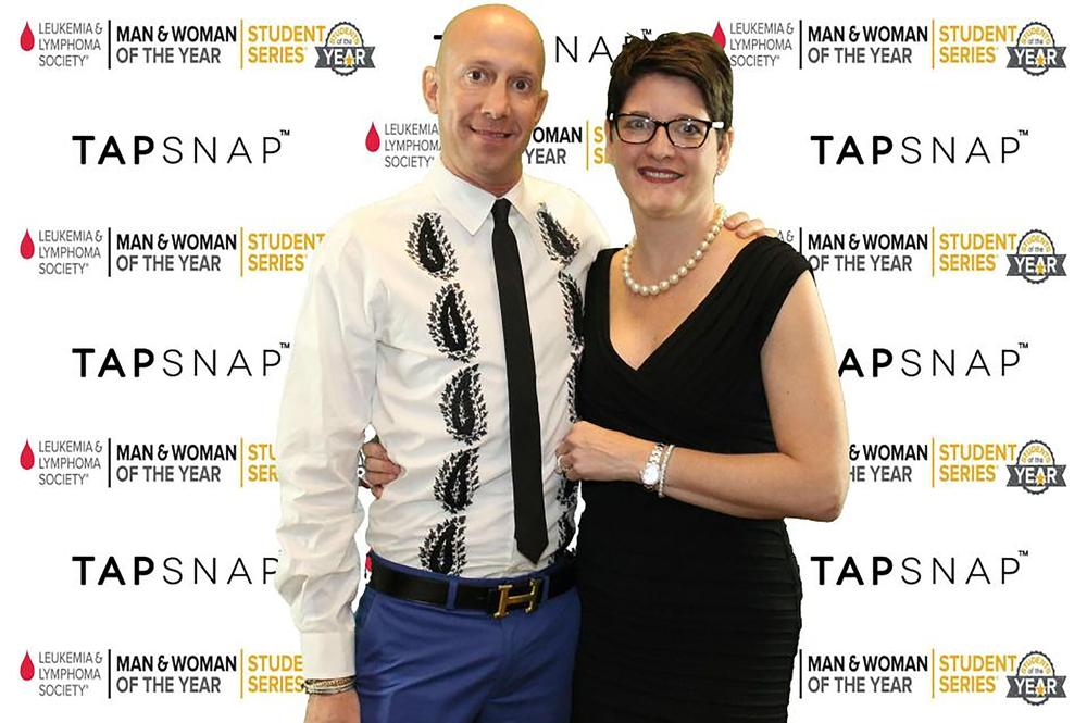 Chris Frank and Megan Frank attending the 2017 Leukemia & Lymphoma Society Fundraiser.