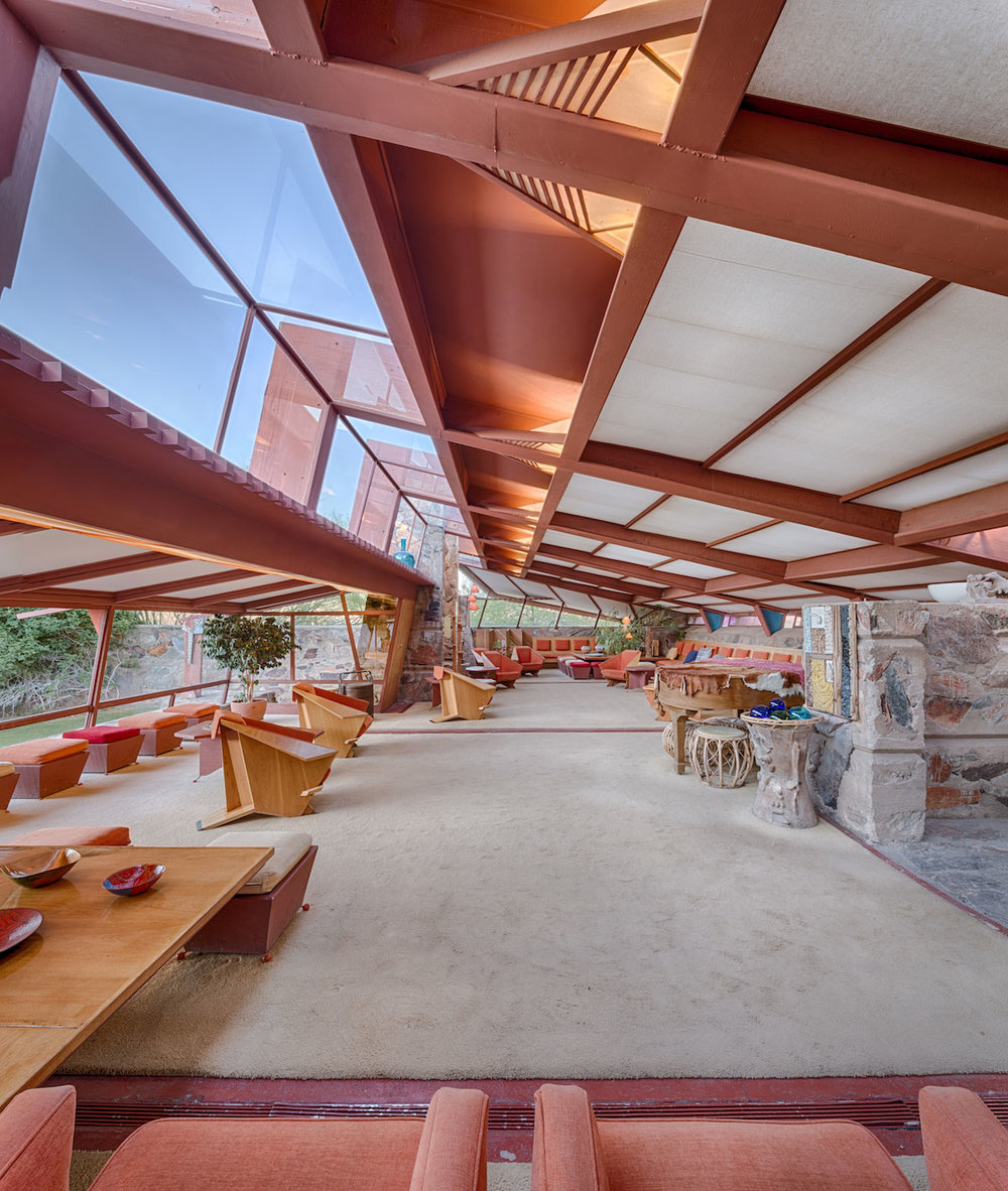 Taliesin West interior, photographed by Andrew Pielage