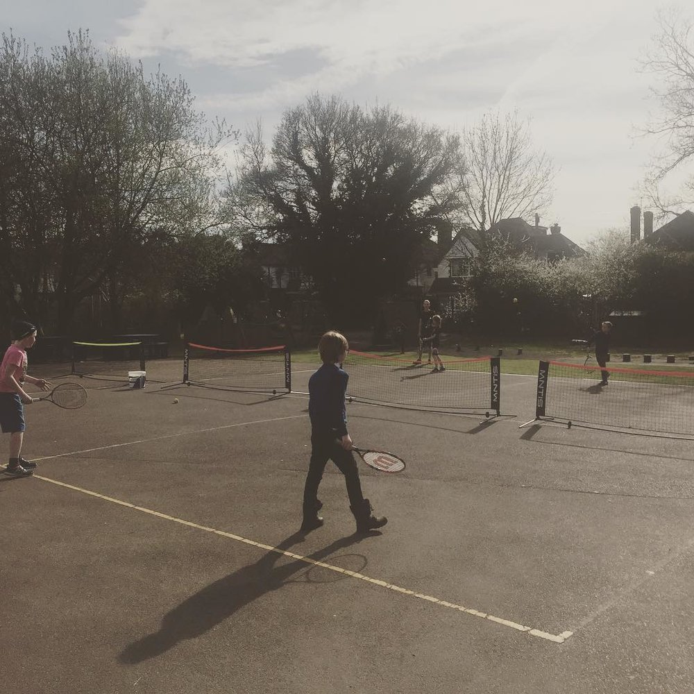 One of my kids tennis sessions