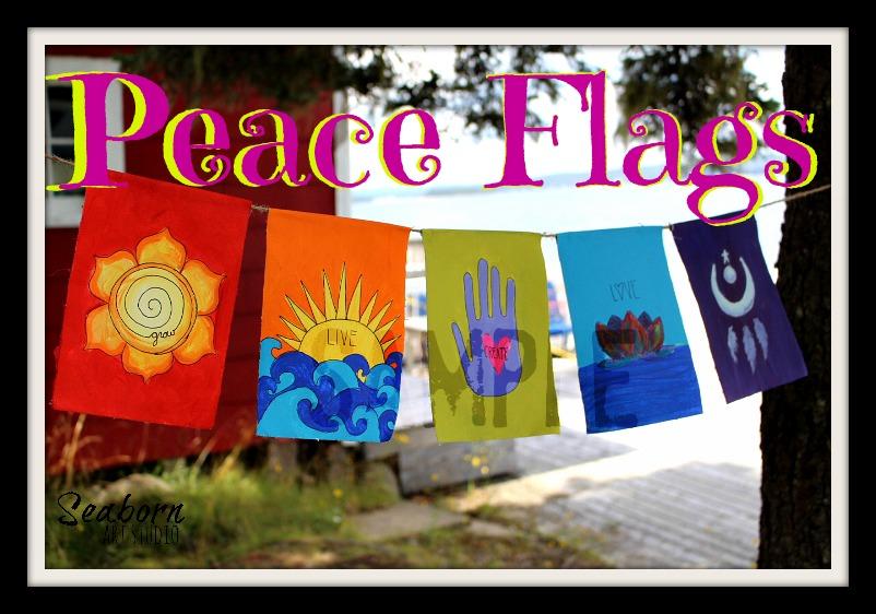 Peace Flags Sample - a Seaborn Art Studio creation