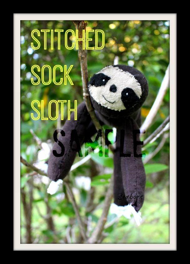 Sock Sloth Sample - a Seaborn Art Studio creation