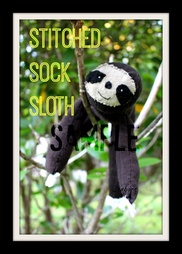 Sock Sloth Sample - a Seaborn Art Studio creation