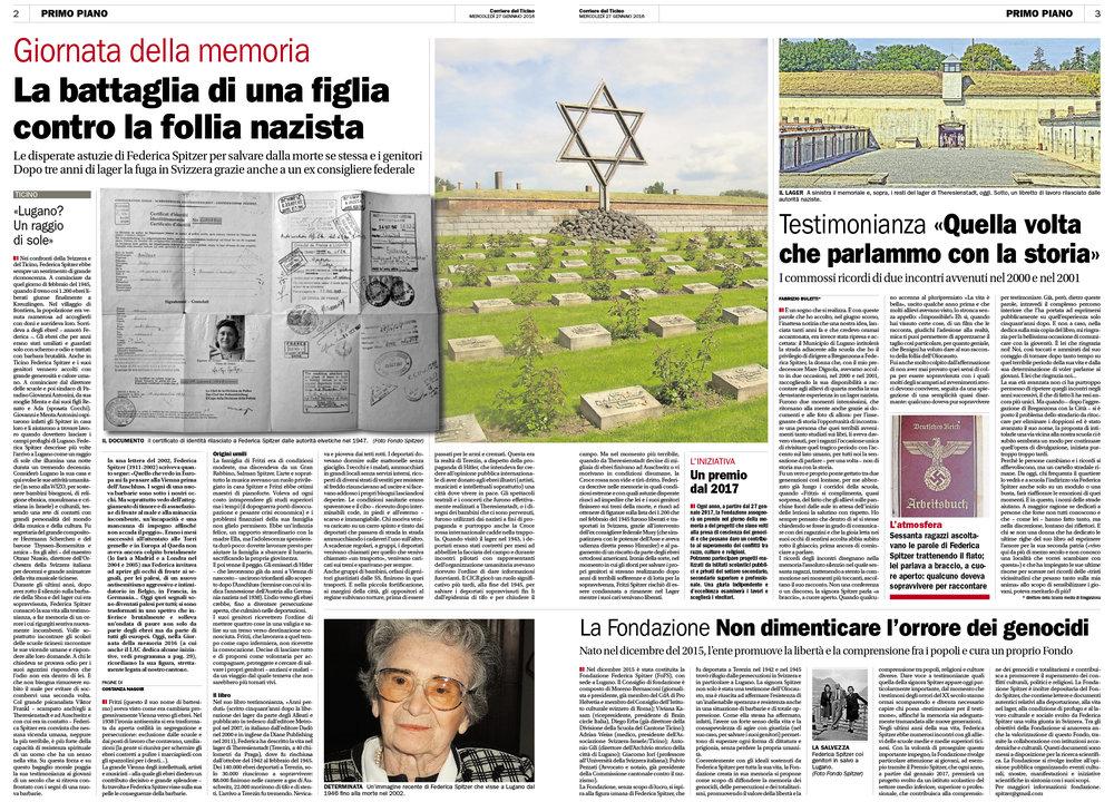27.01.16 - Corriere del Ticino