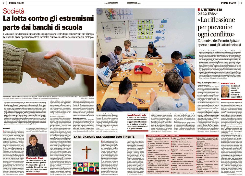 05.09.16 - Corriere del Ticino