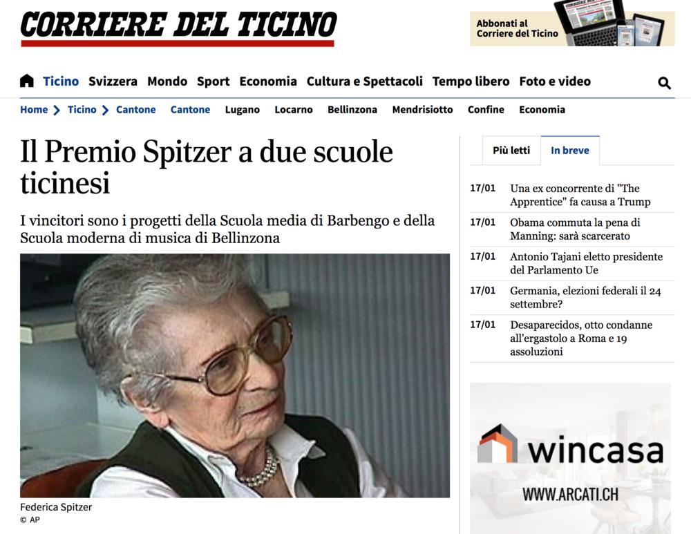 16.01.17 - Corriere del Ticino