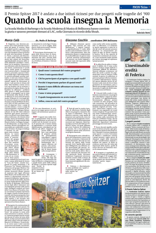 26.01.2017 - Giornale Del Popolo