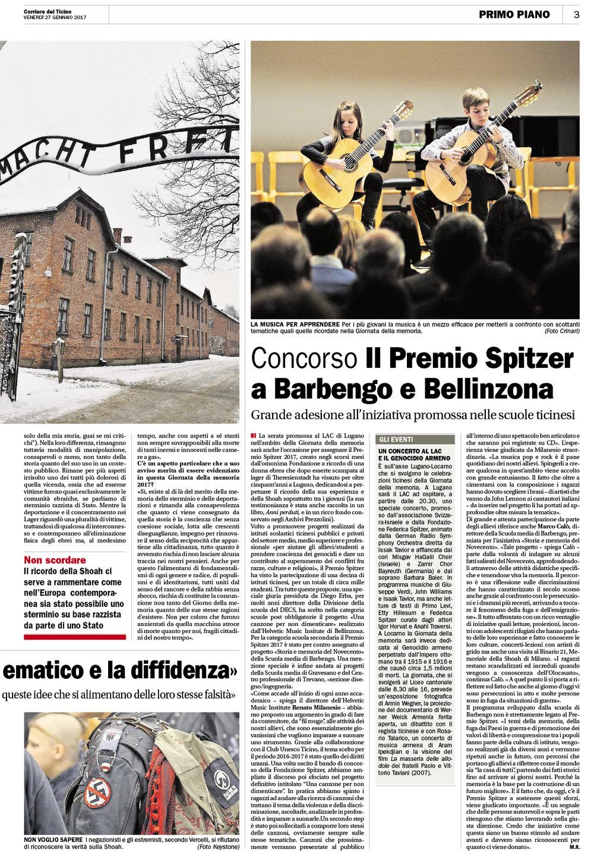 27.01.17 - Corriere del Ticino