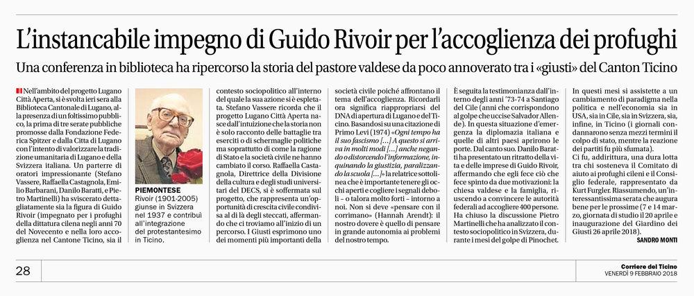 09.02.18 - Corriere del Ticino