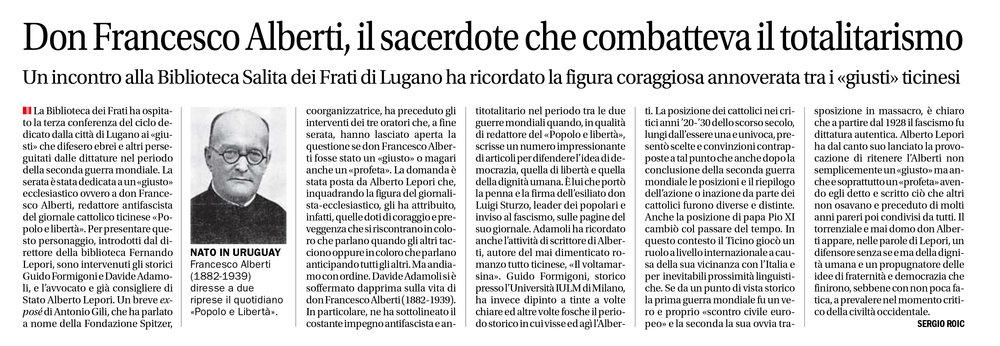 15.03.18 - Corriere del Ticino
