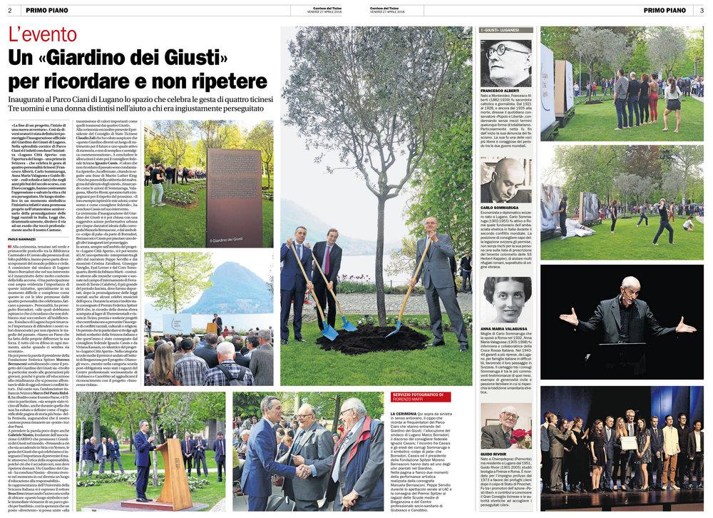 27.04.18 - Corriere del Ticino