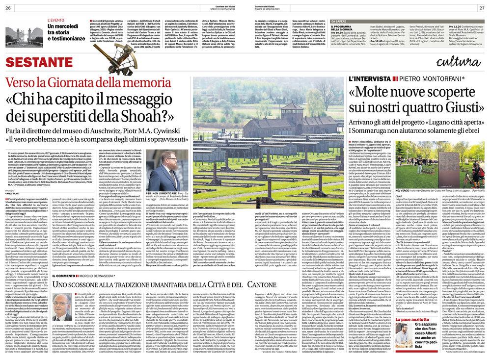 19.01.19 - Corriere del Ticino