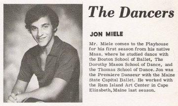 Jon Miele, Lakewood Musical Playhouse Bio 1971