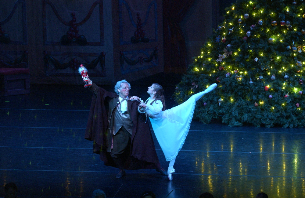 "Jon Miele with Lizzy Dragoni. Maine State Ballet's ""The Nutcracker.""   Photo C.C.Church"