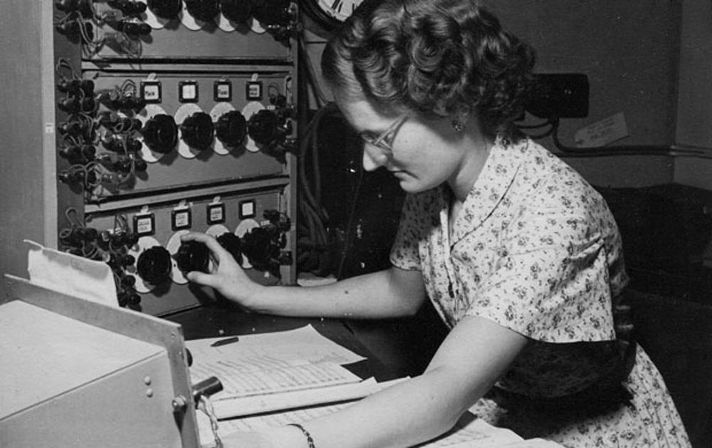 Daphne Oram at the BBC c.1946