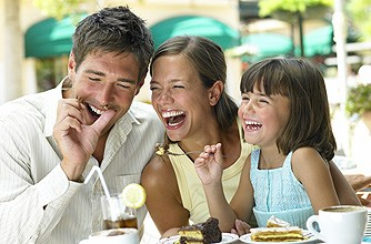 Our whole family can laugh together in a model-worthy way. (Not depicted here)