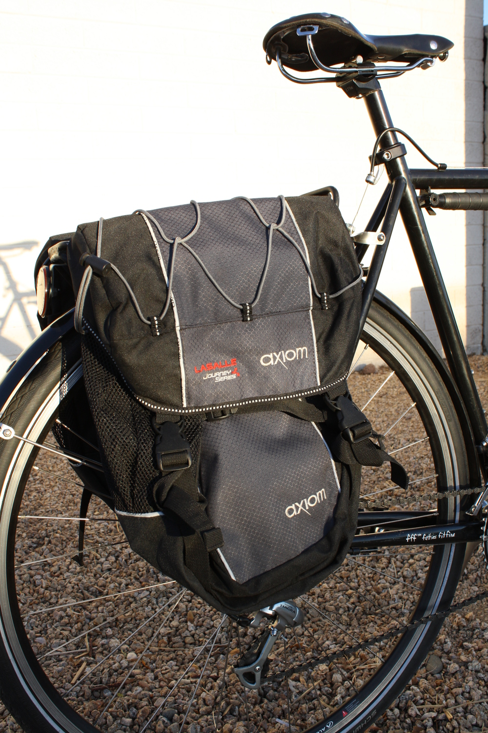 Axiom Rear panniers & Blackburn Rack