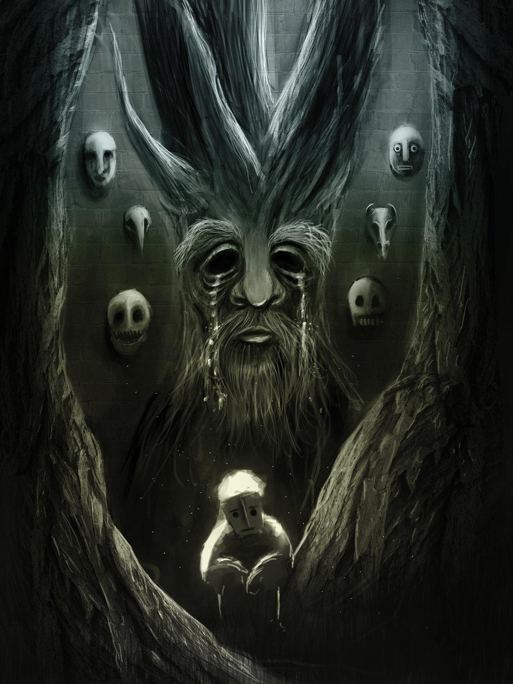 El Lamento de los Arboles - Digital illustration