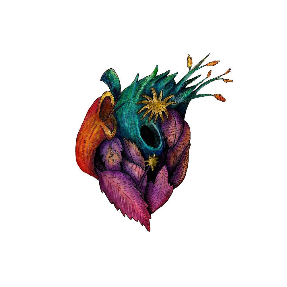 El Corazón del Desierto - Ink and watercolors