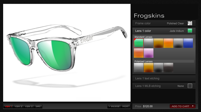 oakley custom sunglasses rh8q  Oakley Introduces Customizable Frogskin Sunglasses