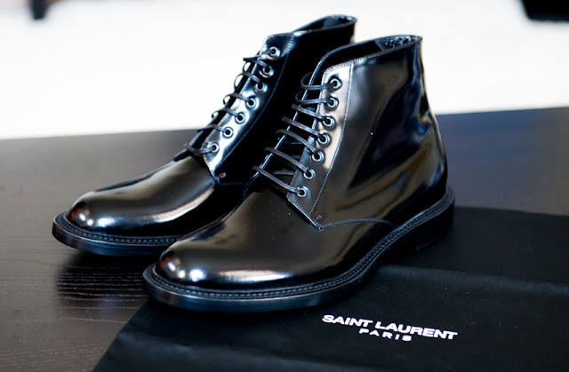 a6be8f61ebc Saint Laurent S/S 2013 Signature Lace Up Army Boots — SOLIFESTYLE®