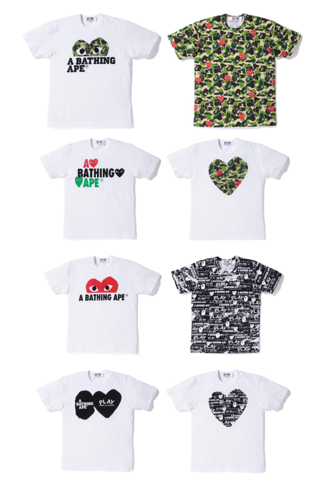 9bed856b1 Bape x Comme des Garcons PLAY Spring 2012 Capsule Collection ...