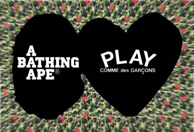ed0f0230 Bape x Comme des Garcons PLAY Spring 2012 Capsule Collection ...
