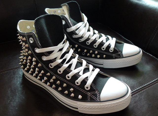 Fashion DIY - COMPLETED Studded Converse High Tops — SOLIFESTYLE® b77f92406