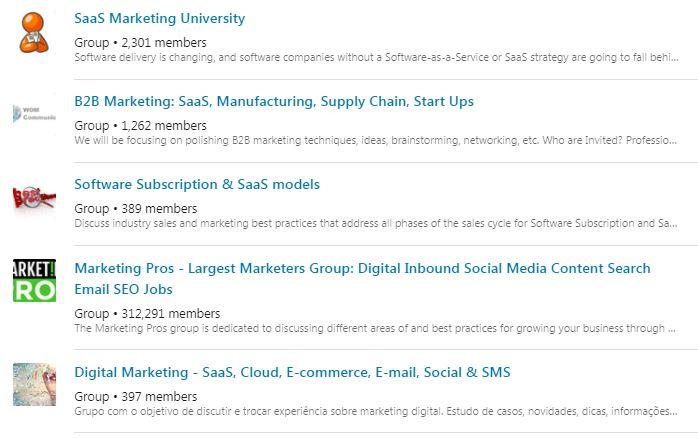 SaaS Marketing Groups - LinkedIn