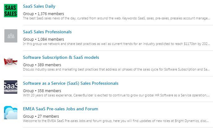 SaaS Sales Groups - LinkedIn