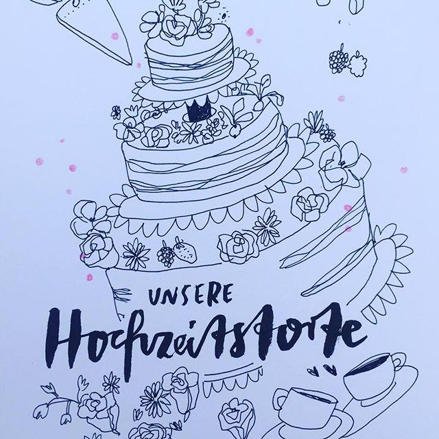Hochzeitstorte 🍰 #hochzeitsinspiration #hochzeit #hochzeitstorte #illustration #liebe #illustrativheiraten #illustrator #schnellzeichner #eventzeichner #hochzeitsillustration #torte #tortenanschnitt
