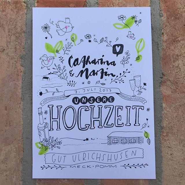❤️Catharina&Martin❤️ @schlossundgutulrichshusen  @frolleinmotte_illustration  #heiraten #hochzeit #illustration #illustrator #illustrativheiraten #handlettering #schnellzeichner #eventzeichner #event #hochzeitsinspiration #liebe #schlossulrichshusen