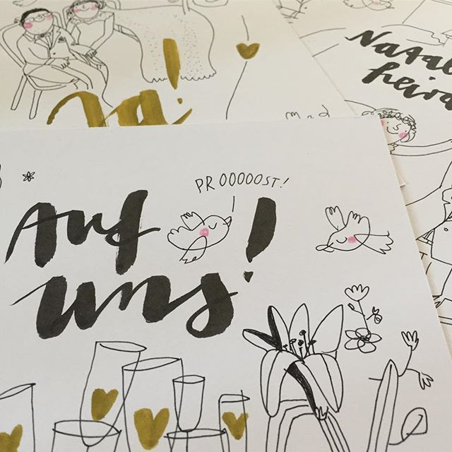 Auf uns!  @frolleinmotte_illustration  #illustration #illustrator #illustrationwork #wedding #hochzeitsillustration #hochzeitsinspiration #hochzeit #aufuns #stößchen