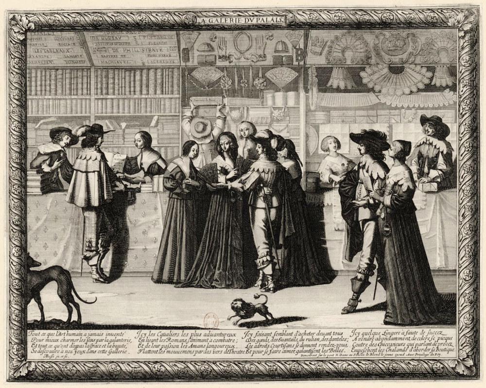 """Abraham Bosse (1602-1676), """"La Galerie du Palais"""" Source: BnF -Lien"""