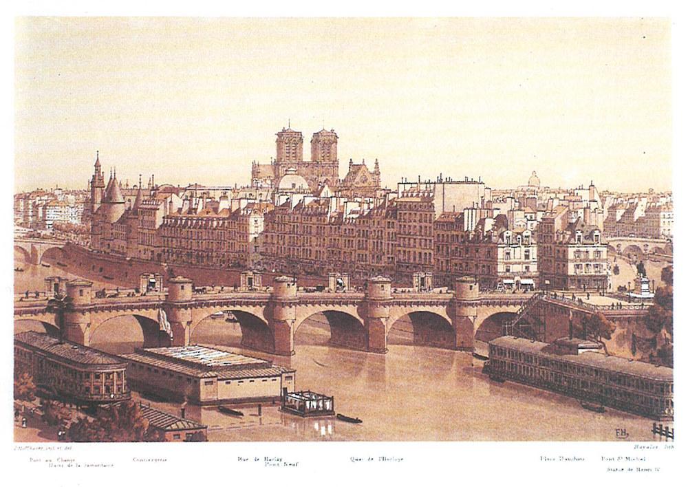 IIllustrations de Paris à travers les âges, Pascal Payen-Appenzeller, Hoffbauer, aut. du texte. Paris, Tchou, 1978.  Source: BnF -  Lien