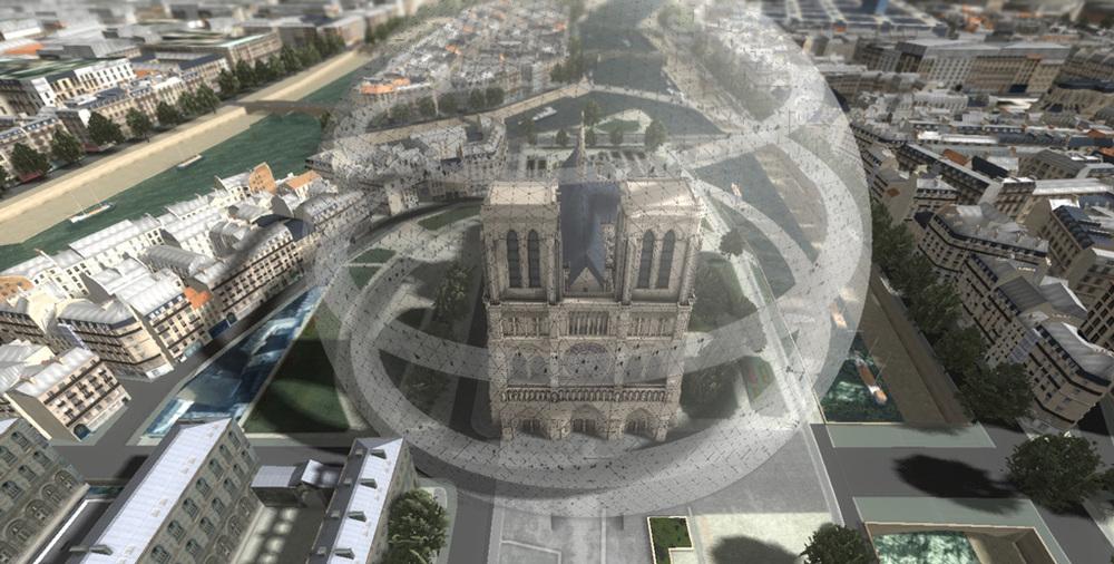 Revoir Paris,  exposition de François Schuiten et Benoît Peeters à la Cité de l'Architecture du 20 novembre 2014 au 09 mars 2015.  Lien   Crédits: Dassault Systèmes/François Schuiten