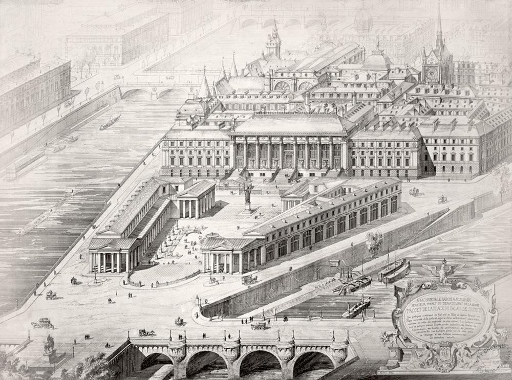 Architectes: Joseph-Louis Duc et Honoré Daumet.  Crédits: State Library Victoria Source:  Lien
