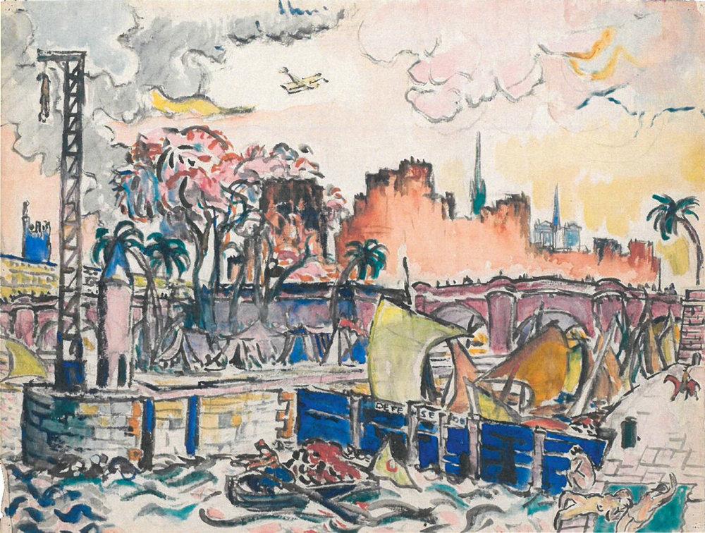 Le Corbusier, Paysage parisien imaginaire, 1917.