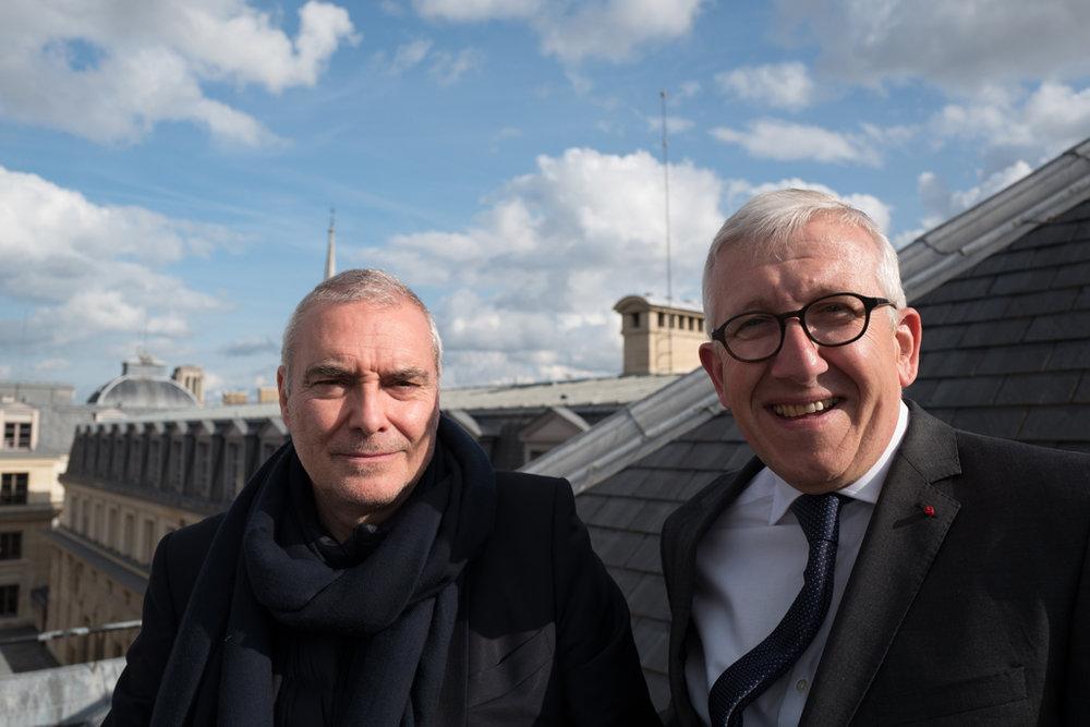 Dominique Perrault et Philippe Bélaval, Palais de Justice, juin 2016. Crédits: W. Yon