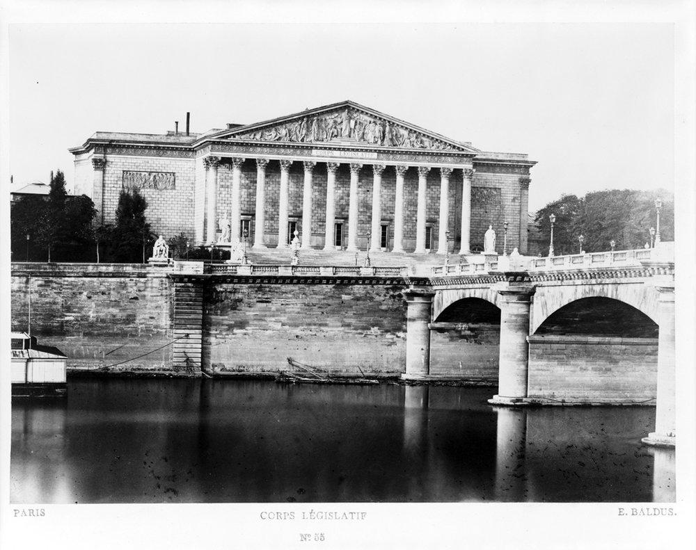 Photographie d'Edouard Baldus, prise entre 1851 et 1870. Source:  Lien